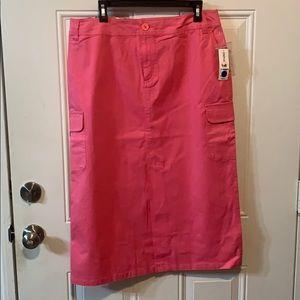Hot Pink Duck Head Straight Skirt